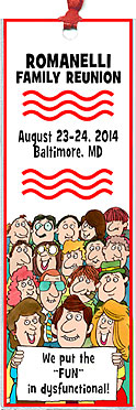 Big Crowd family reunion bookmark favors