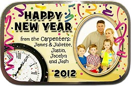 Happy New Year Photo Mint Tins
