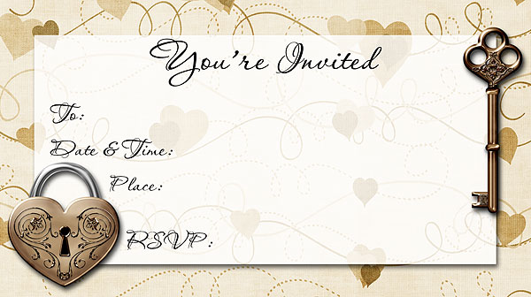 key to my heart invitations free printable fill in heart theme