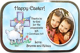 Lamb & Cross Easter Photo Mint Tins