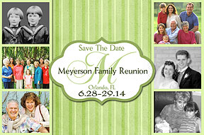Monogram Photo Family Reunion Save the Date Cards