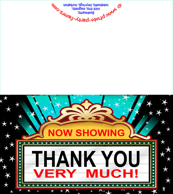 Movie Marquee Free Printable Thank You Card
