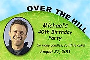 Over the Hill Photo Birthday Magnet