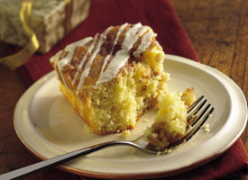 overnight eggnog coffee cake recipe