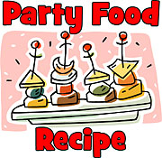 party food recipes, appetizers, dips, make-ahead dishes