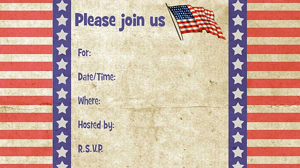 patriotic invitations free printable fill in patriotic theme