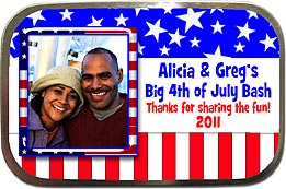 Patriotic Red White & Blue Mint Tins