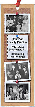 Personalized Family Reunion Bookmark Favors