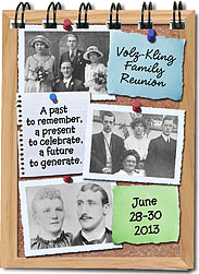 Photo Bulletin Board 3x4 family reunion notebook favors
