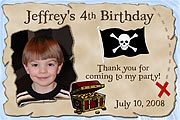 Pirate Birthday Magnet
