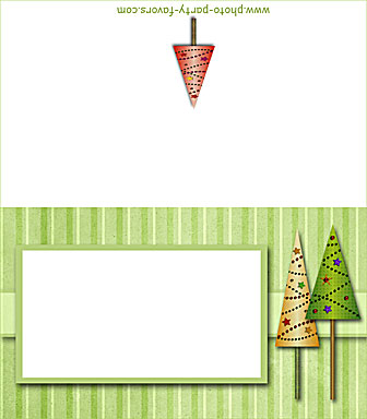 Free Printable Folding Christmas Trees Place Cards Buffet