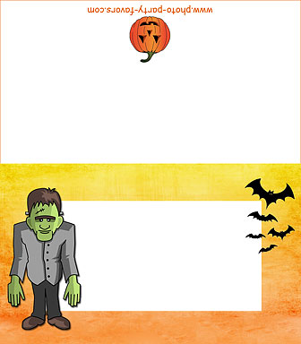 image regarding Printable Halloween Cards referred to as Totally free Printable Monsters Halloween Buffet Playing cards