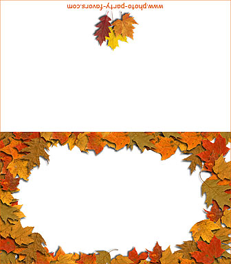 free printable autumn leaves place card