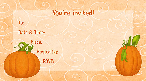 pumpkin invitations free printable fill in party invitations