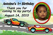 Race Cars Birthday Magnet