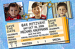 Photo Bar Mitzvah Save the Date cards