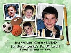 Sports Bar Mitzvah Photo Magnets