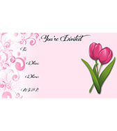 Spring Tulips Free Printable Fill-In Invitations