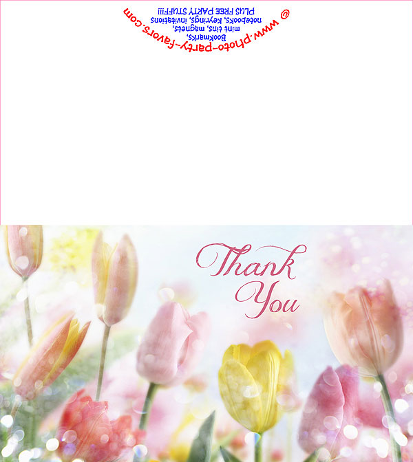 Spring Tulips Free Printable Thank You Card