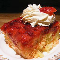 easy strawberry upside down cake recipe