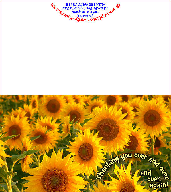 image relating to Printable Pictures of Sunflowers known as No cost Printable Sunflowers Thank Yourself Card - Against Photograph Occasion