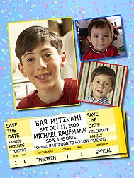 Tickets Bar Mitzvah Photo Magnets