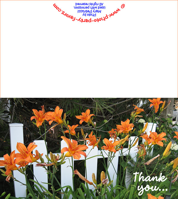 Tiger Lily Free Printable Thank You Card