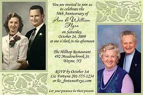 Touch of Class Photo Anniversary Invitations