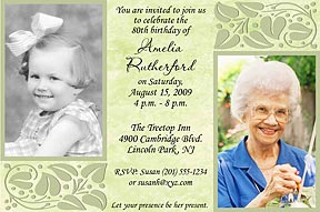 Touch of Class Photo Birthday Invitation