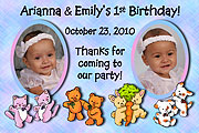 Twins Birthday Magnet