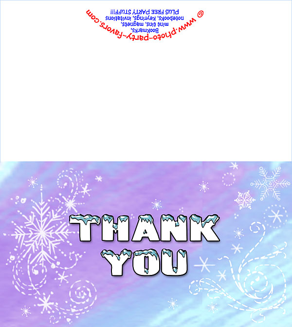 picture regarding Thank You Card Printable referred to as Absolutely free Printable Winter season Wonderland Thank Oneself Card - Towards Photograph