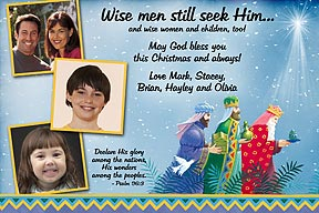 Wise Men Christian Photo Christmas Cards