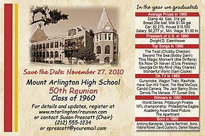 Year We Graduated Class Reunion Save the Date Cards are personalized with your school photo, name and colors with fun facts from the year you graduated.