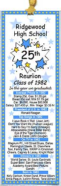Year You Graduated class reunion bookmark