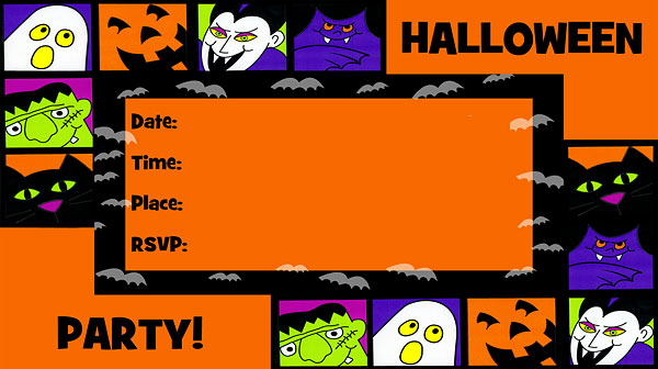 It's just an image of Free Printable Halloween Invitations with regard to countdown